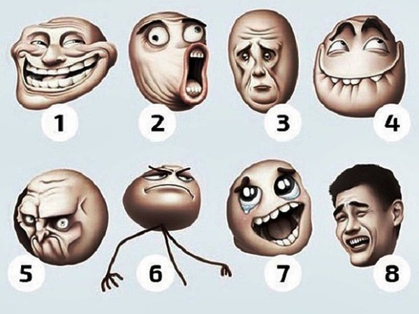 Válassz egy arcot és nézd meg mit árul el rólad
