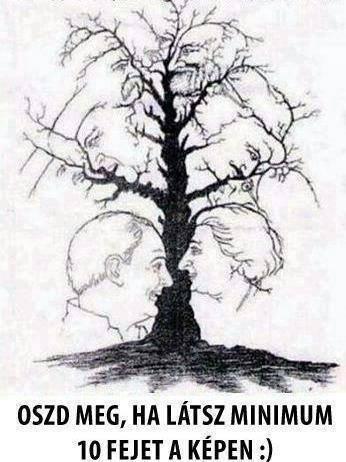 Hány fejet látsz ezen a képen? - Sokkal több van rajta, mint elsőre gondolnád