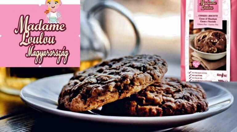 Kakaós-mogyorós keksz Madame Loulou céllisztből, gluténmentesen