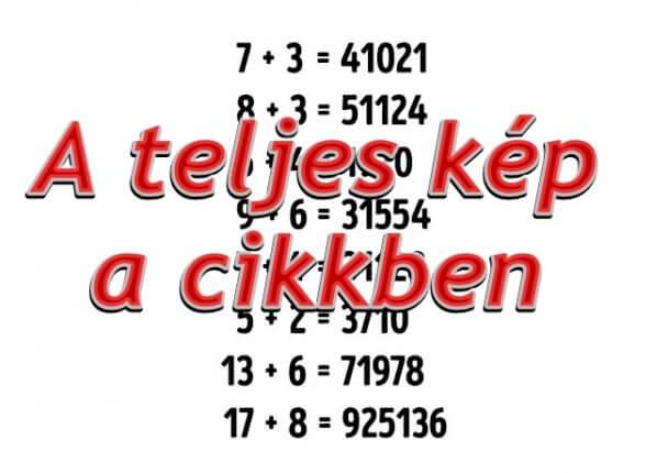 Kifogott az embereken ez a matek feladat! Te tudod mi a megoldás?