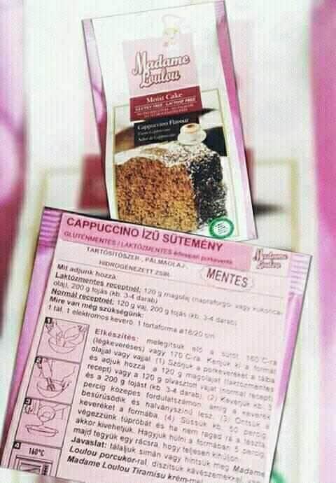 Cappuccino ízű sütemény - Gluténmentes recept